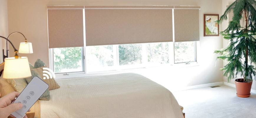 Motorized Blackout Shades for Bedroom
