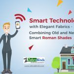 Smart Technology with Elegant Fabrics Combining Old and New with Smart Roman Shades