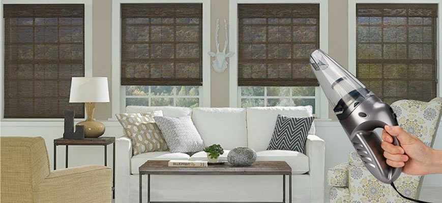 Vacuum Cleaning Woven Wood Blinds
