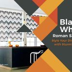 Black and White Roman Shades: Style Your Dining Area with Stunning Hues