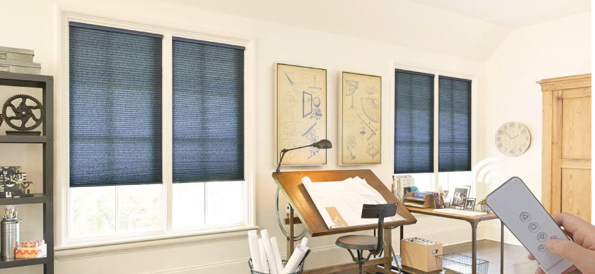 Motorized Light Controlling Cellular Shades