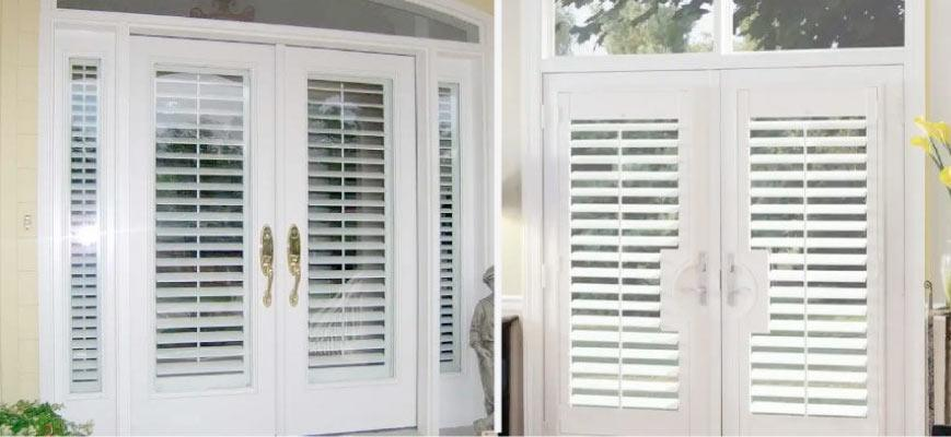 Wood Shutters for French Doors