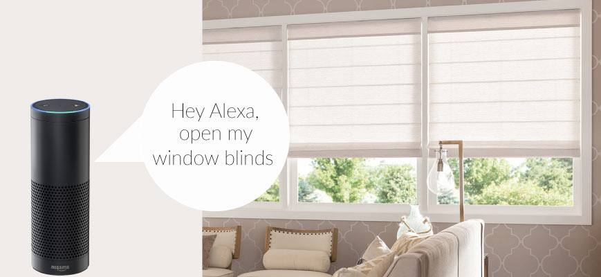 Voice Controlled Roman Shades