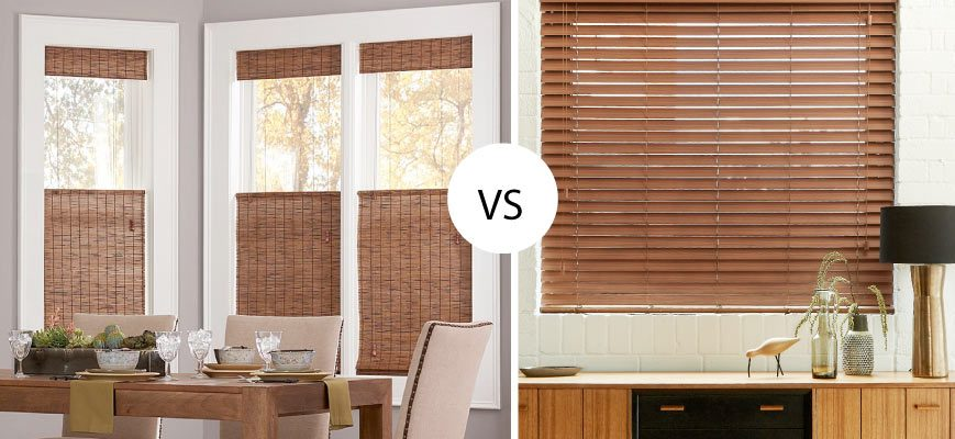Woven Wood Blinds vs Faux Wood Blinds