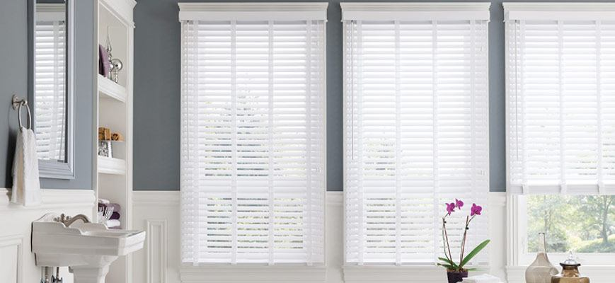 Moisture-Resistant Window Shades for Bathroom