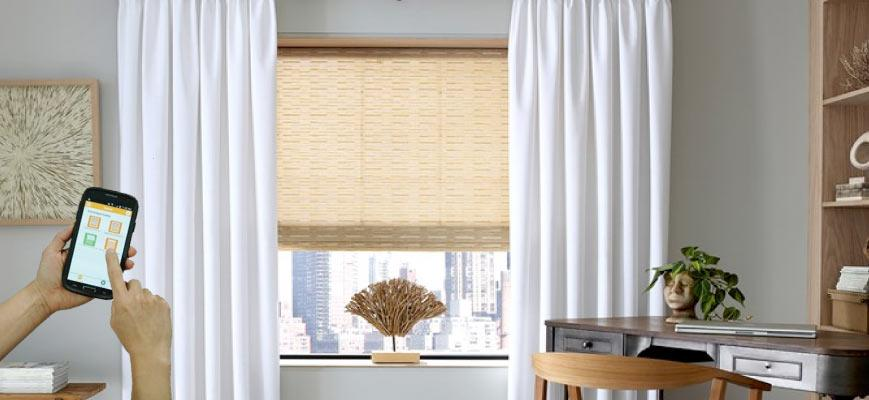 Smart Blinds with Curtains