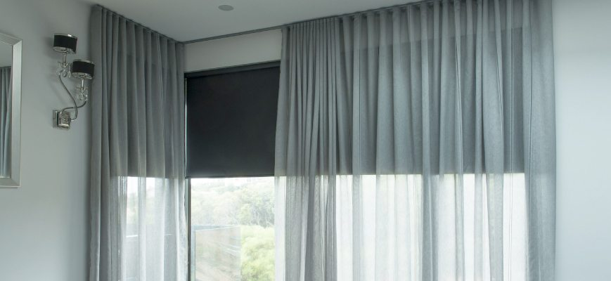 Blinds and Shades Over Curtains