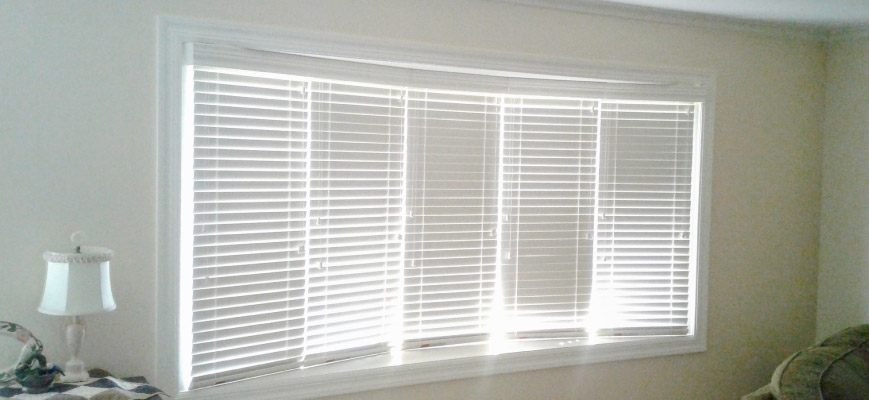 Faux Wood Blinds for Bay Windows