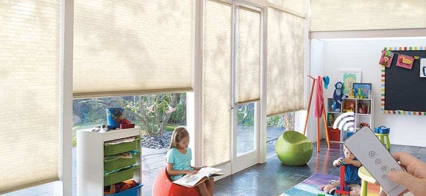 Motorized Shades for Kids