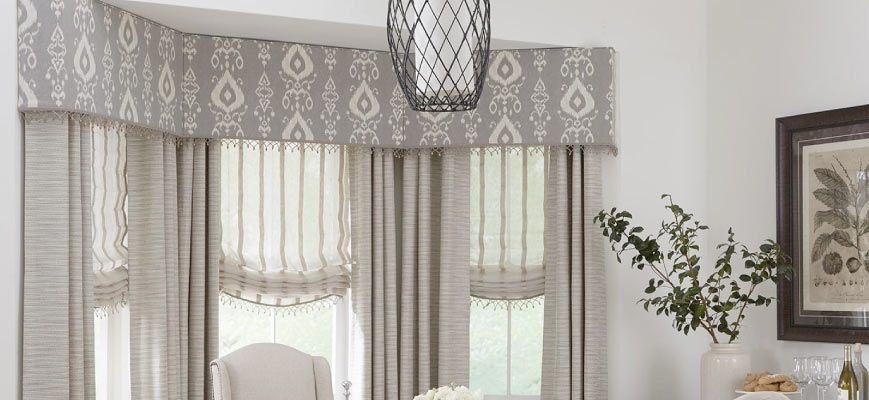 Cornices with Curtains and Drapery