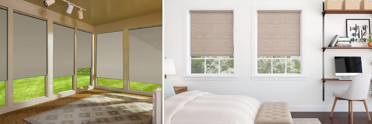 Solar Shades for Work Space