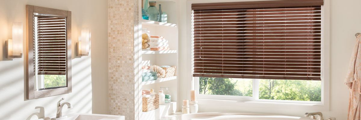 Bathroom Faux Wood Blinds