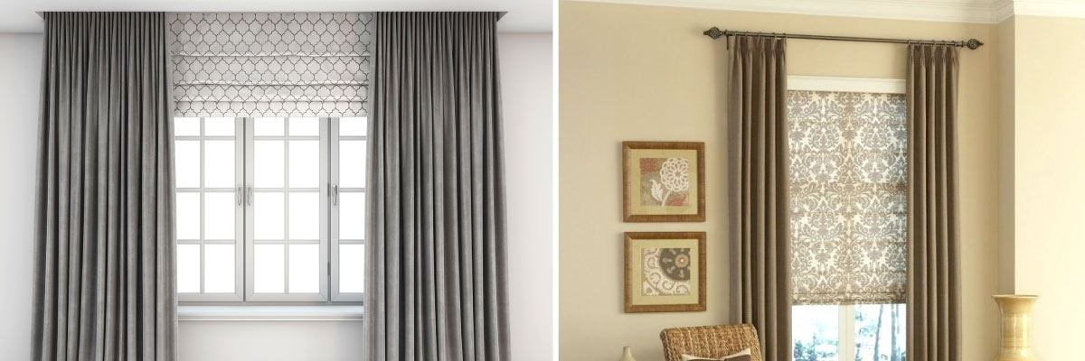 Integrating Roman Shade with Curtain