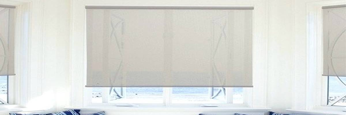 Crown Motorized Shades with Built In Rechargeable Batteries