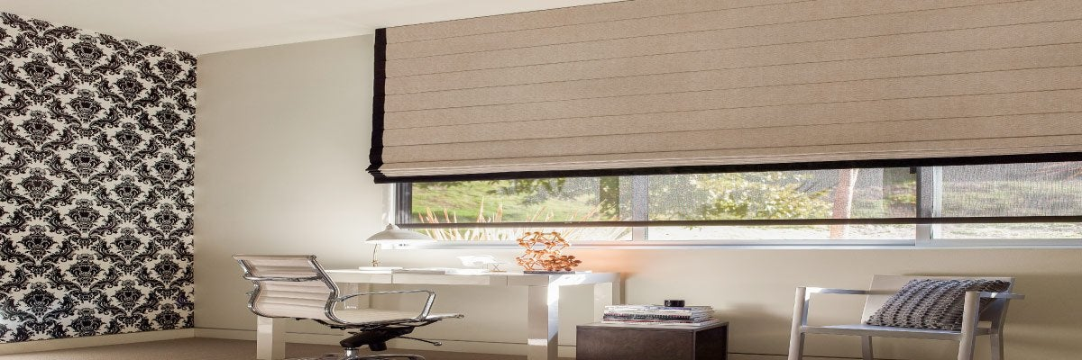Roman Shades for Office