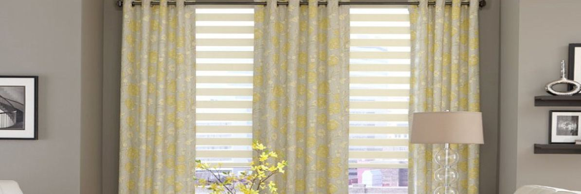 Combination of Shades and Drapes
