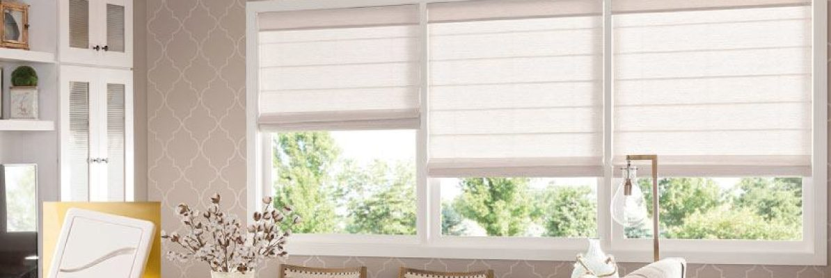 Smart Roman Shades for Living Room