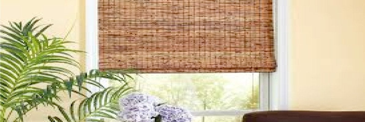 Wooden Window Shades for Living Room