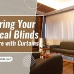 Covering your Vertical Blinds Hardware with Curtains