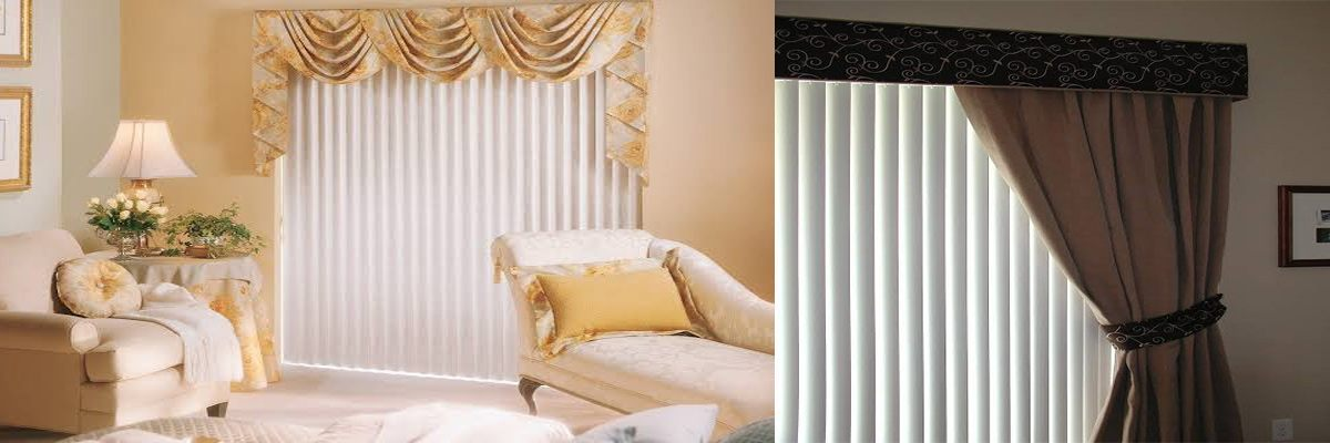How To Put Curtains Over Vertical Blinds