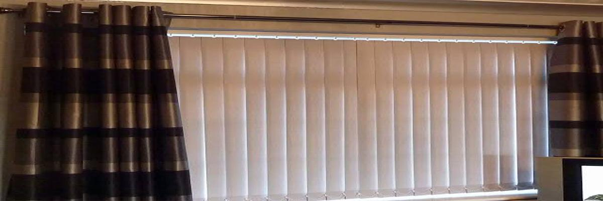 Curtain Over Vertical Blinds