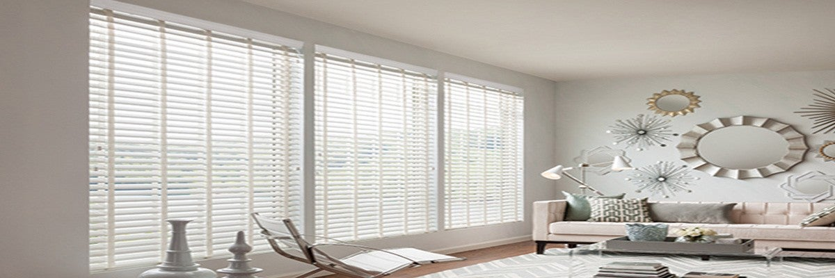 Faux Wood Blinds for Recessed Windows