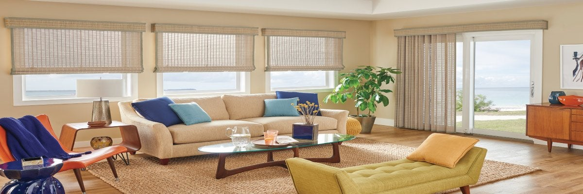 Natural Woven Shades for Sliding Glass Door