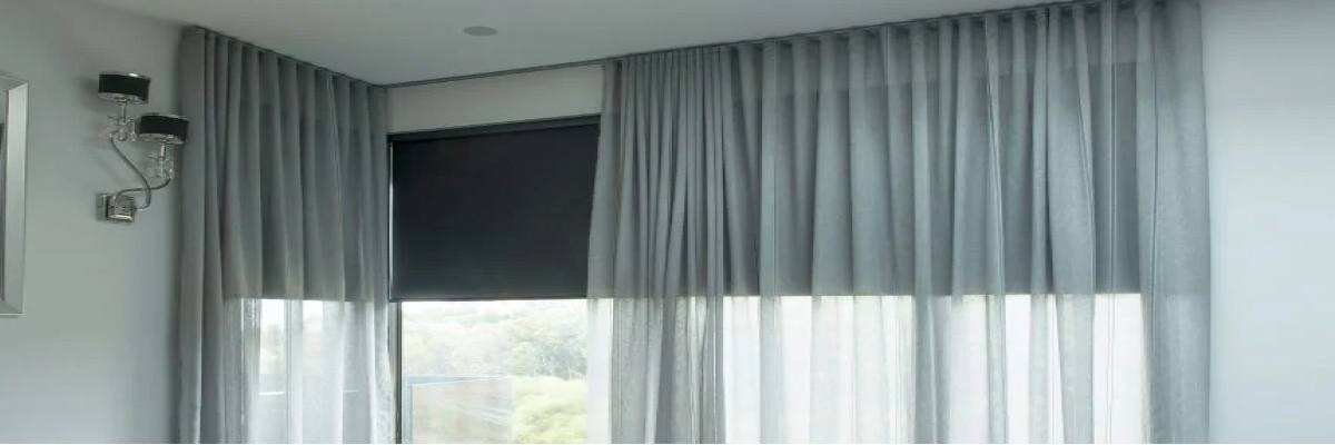 Sheer Curtains Over Roller Shades