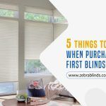 5 Things to Consider When Purchasing Your First Blinds