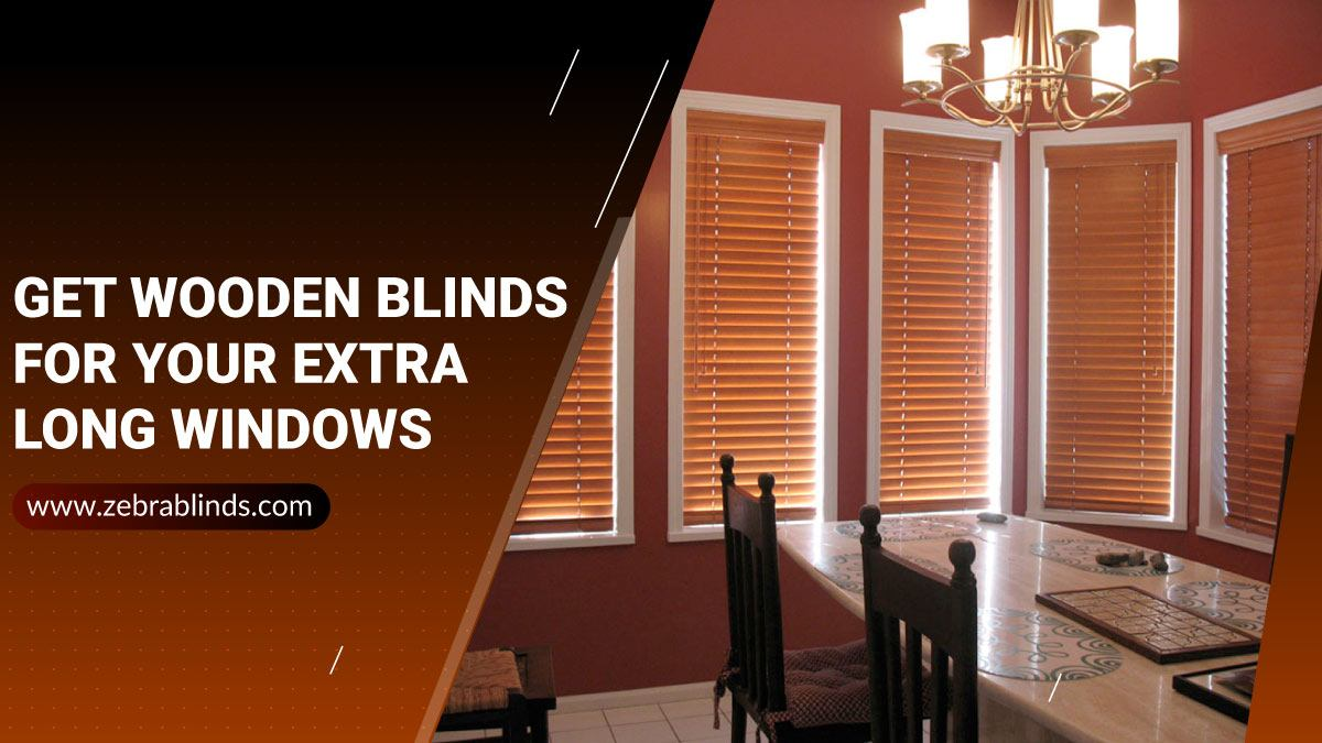 Extra Long Wooden Blinds