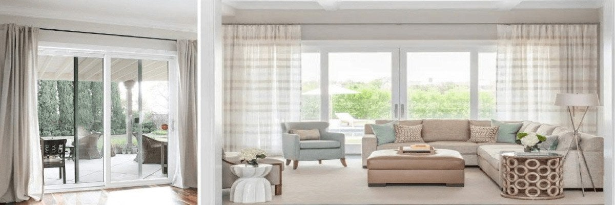 Drapery for Sliding Glass Door