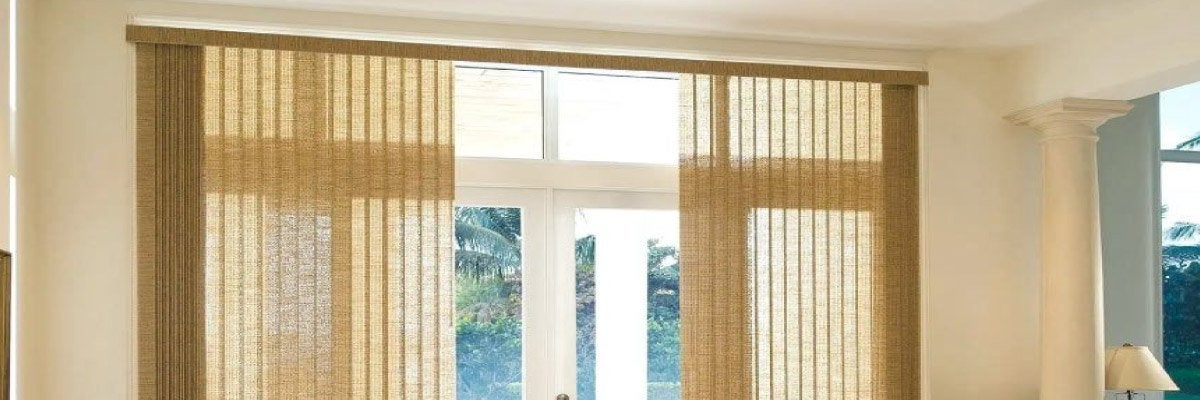 Natural Fabric Vertical Blinds for Doors