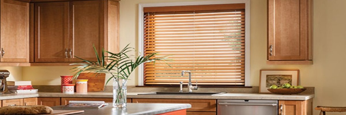 Faux Wood Blinds for Kitchen Windows