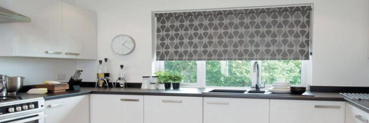 Roller Shades for Large Kitchen Windows