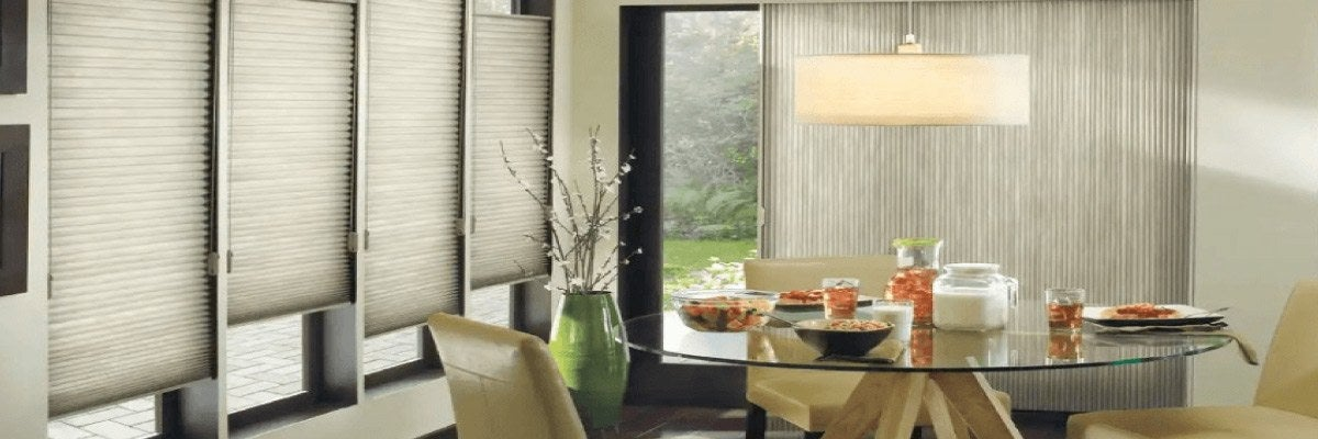 Vertical Cellular Shades for Sliding Door