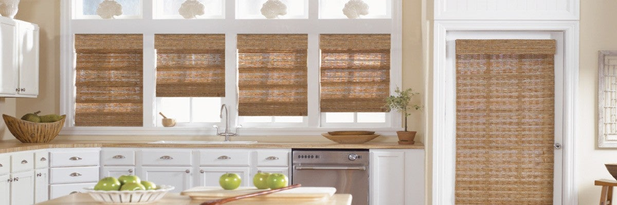 Woven Shades for Kitchen Bay Windows
