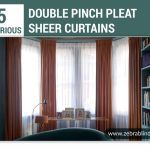 Luxurious Double Pinch Pleat Sheer Curtains