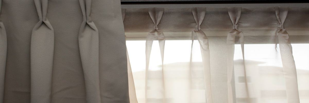 Double Pinch Pleated Sheer Shades