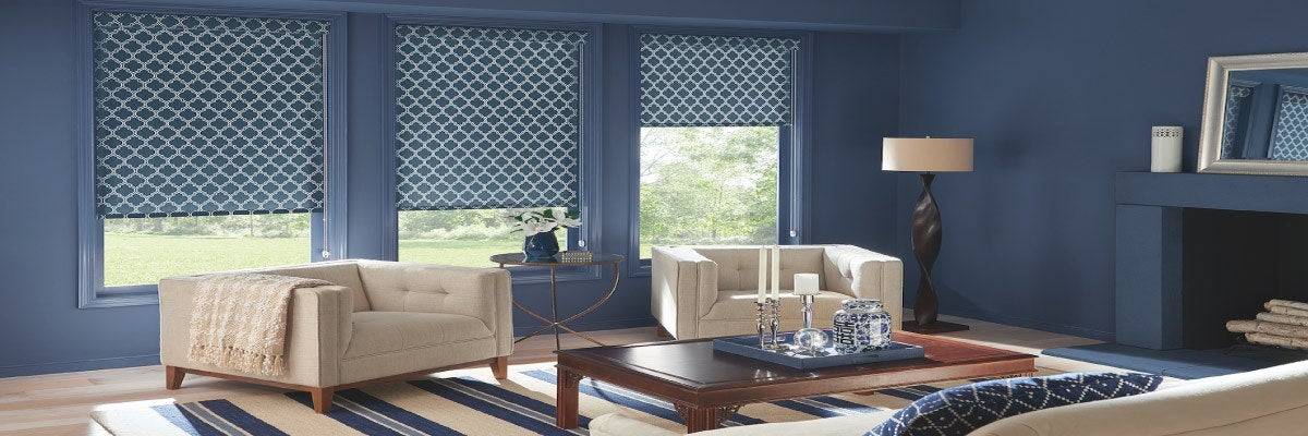 Fabric Roller Shades for Wide Windows