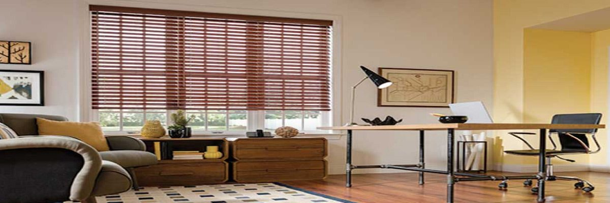 Faux Wood Smart Privacy Shades