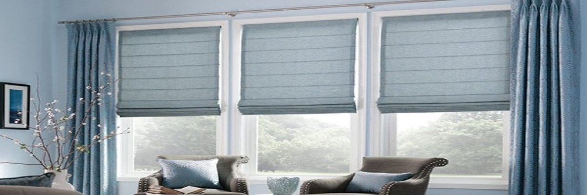 Grey Colored Roman Blinds