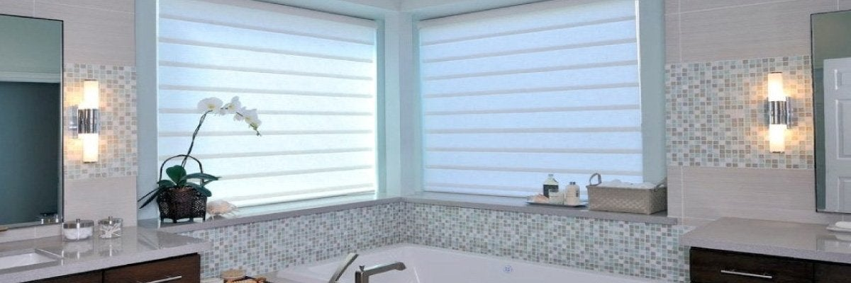 Pull Down Shades for Bathroom