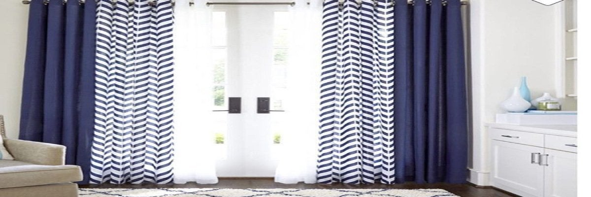Make Curtains With Two Diffe Fabrics