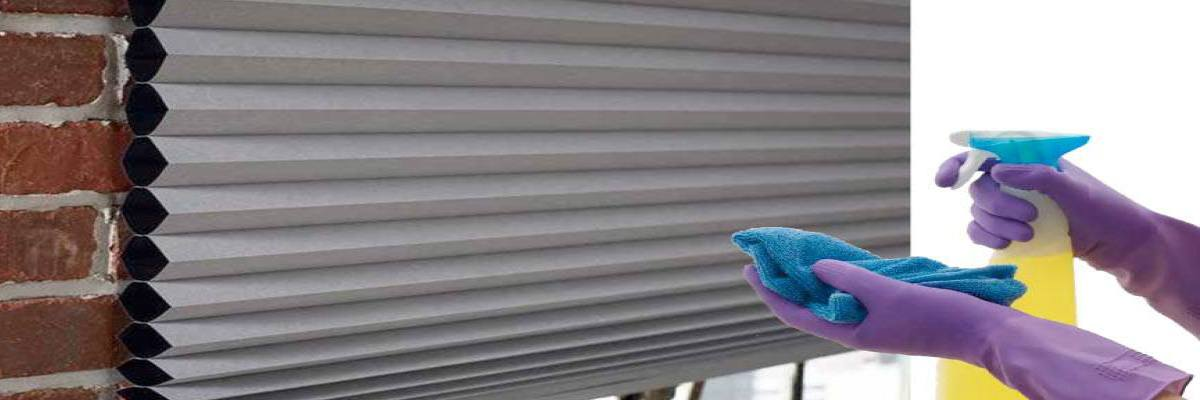 Cleaning Cellular Shades with Damp Cloth