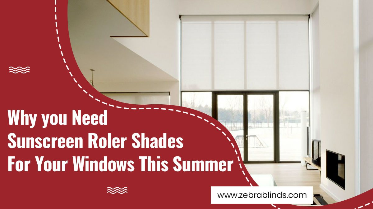 Sunscreen Roller Shades For Your Windows