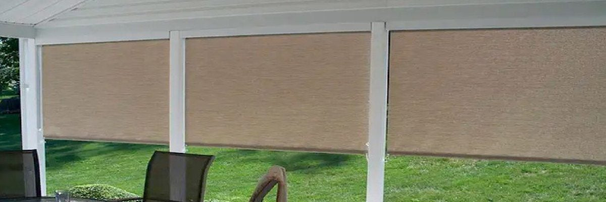 Outdoor Porch Roll Up Shades