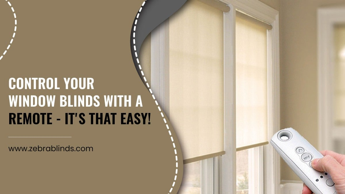 Control Your Window Blinds With A Remote