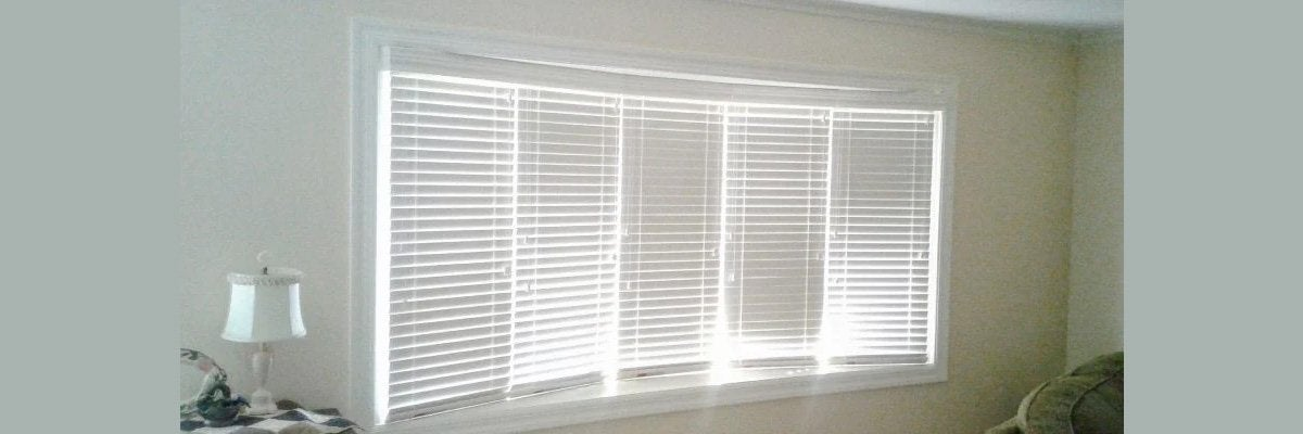 Faux Wood Blinds for Bay Window