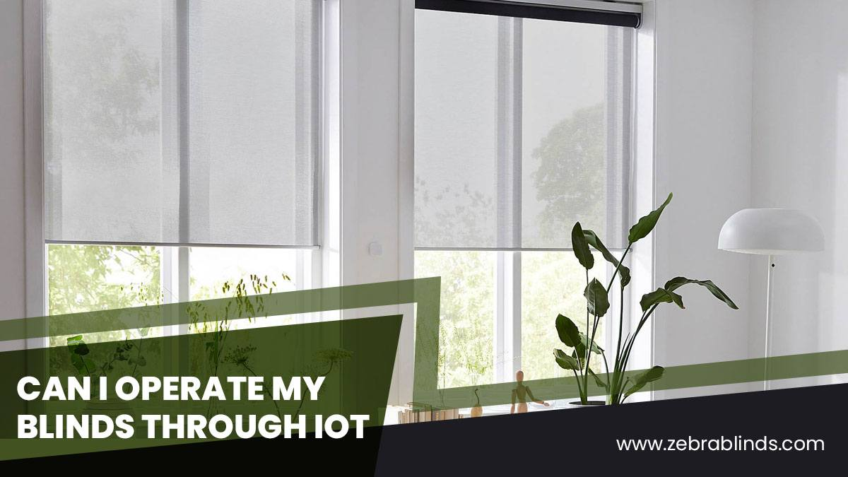 Can I Operate My Blinds Through IoT