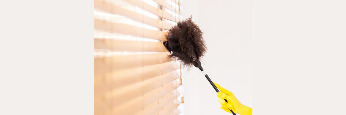 Dusting Faux Wood Blinds